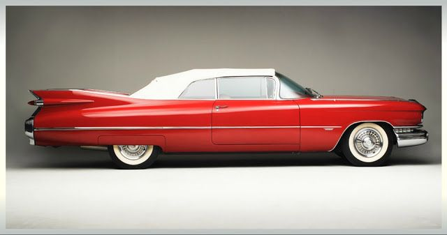 Cadillac Series 62 Convertible Side View Vintage Classic Cars