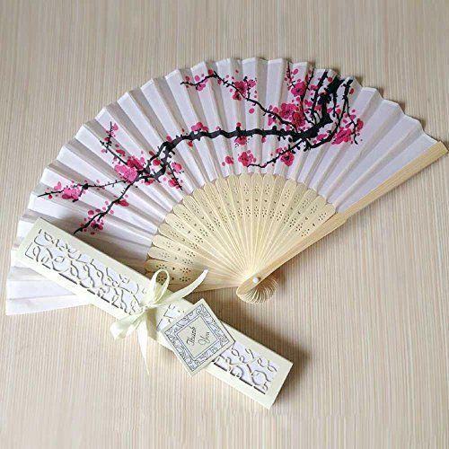 Cherry Blossom Design Silk Folding Fan Wedding Favors /Cherry Blossom Silk Fans Living museum http://www.amazon.com/dp/B00QDFIKRG/ref=cm_sw_r_pi_dp_ep-lvb10VZJ6F