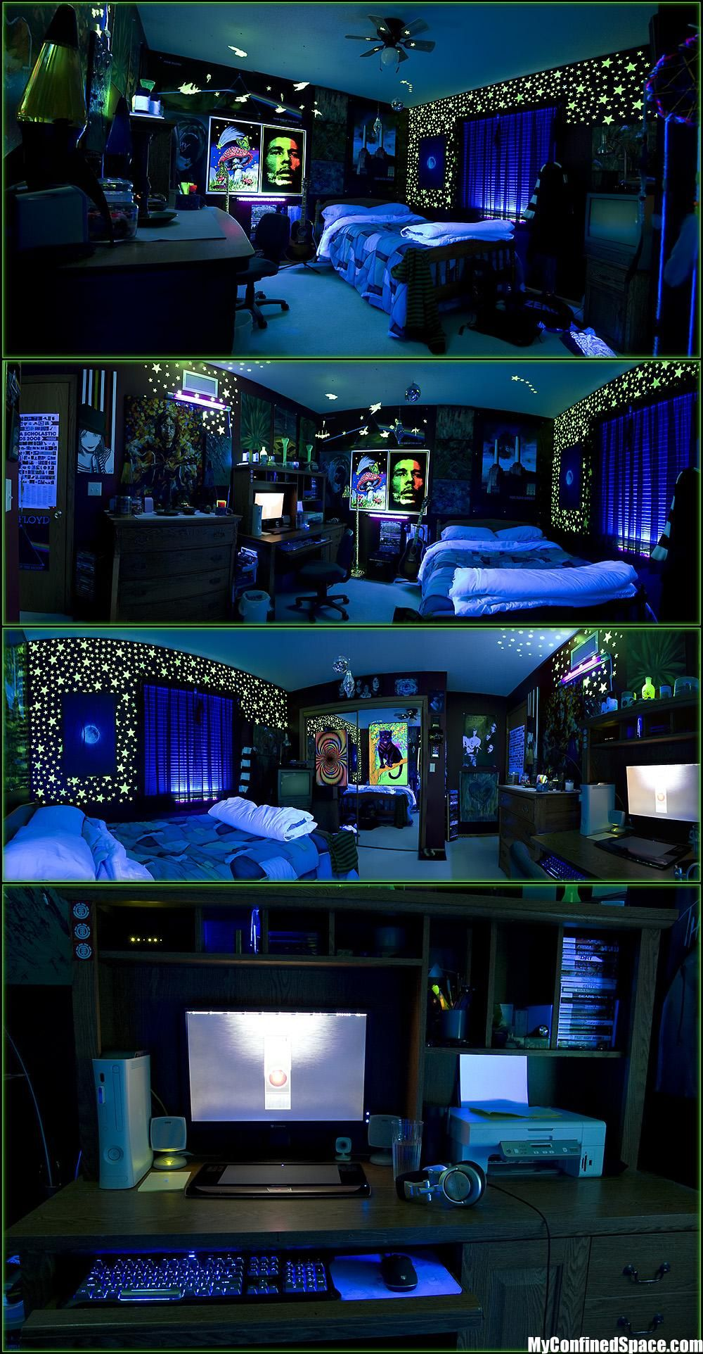 Like this, im gonna have UV posters and lights, UV stars and the ...