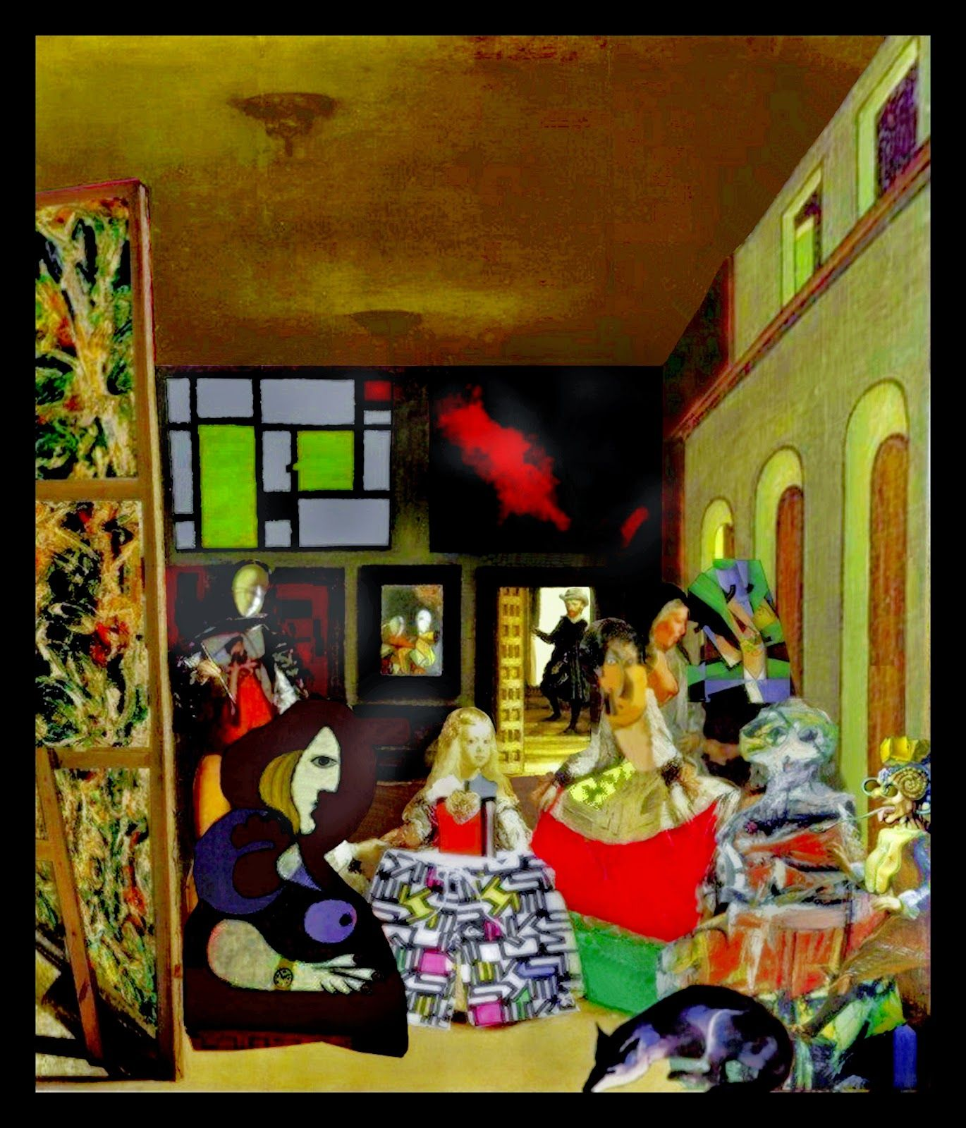 Mis cuadros pintura abstracta mi interpretaci n de las meninas ury arte pinterest - Cuadros de meninas ...