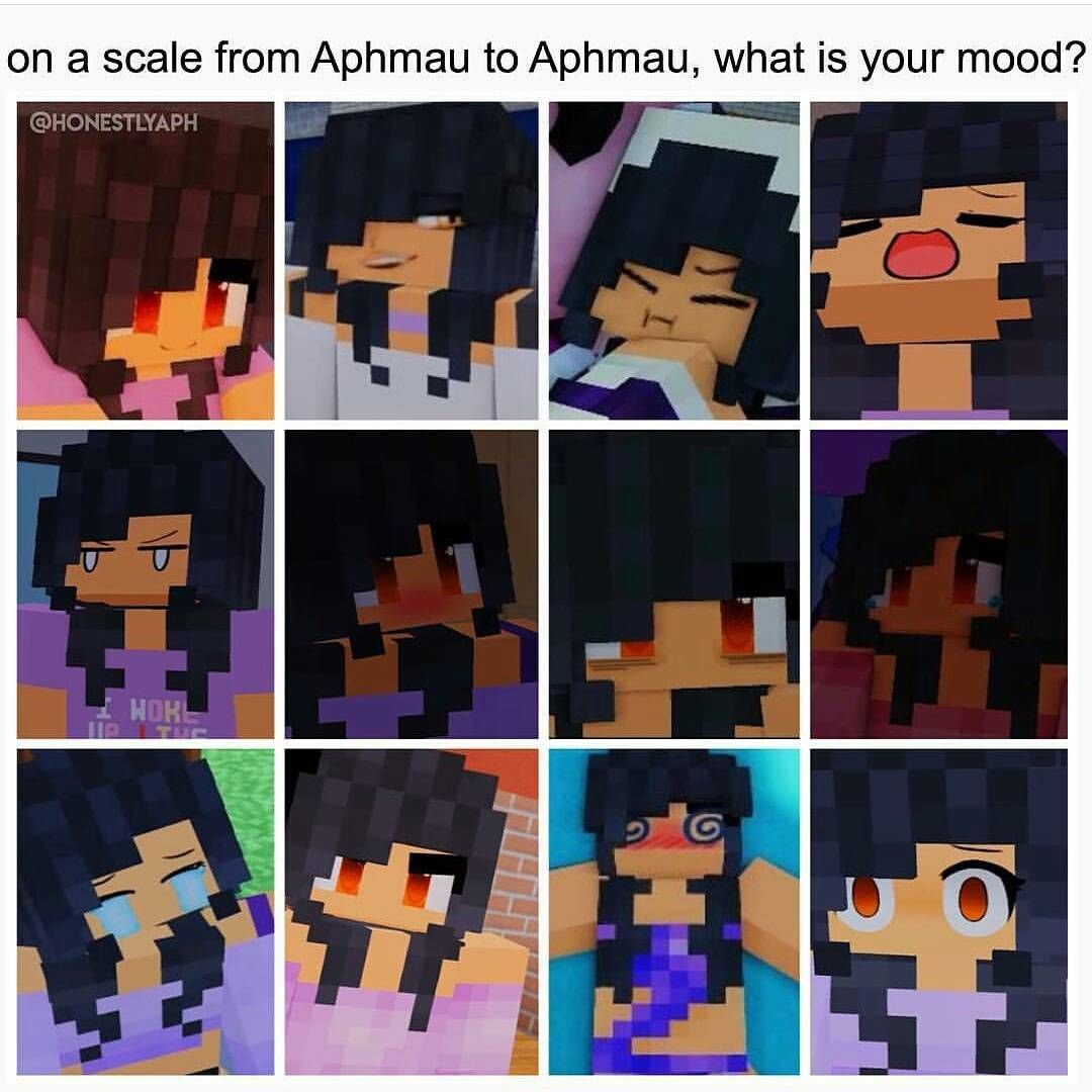 Minecraft Characters Faces Mines The First One On The First Row Aphmau Pinterest