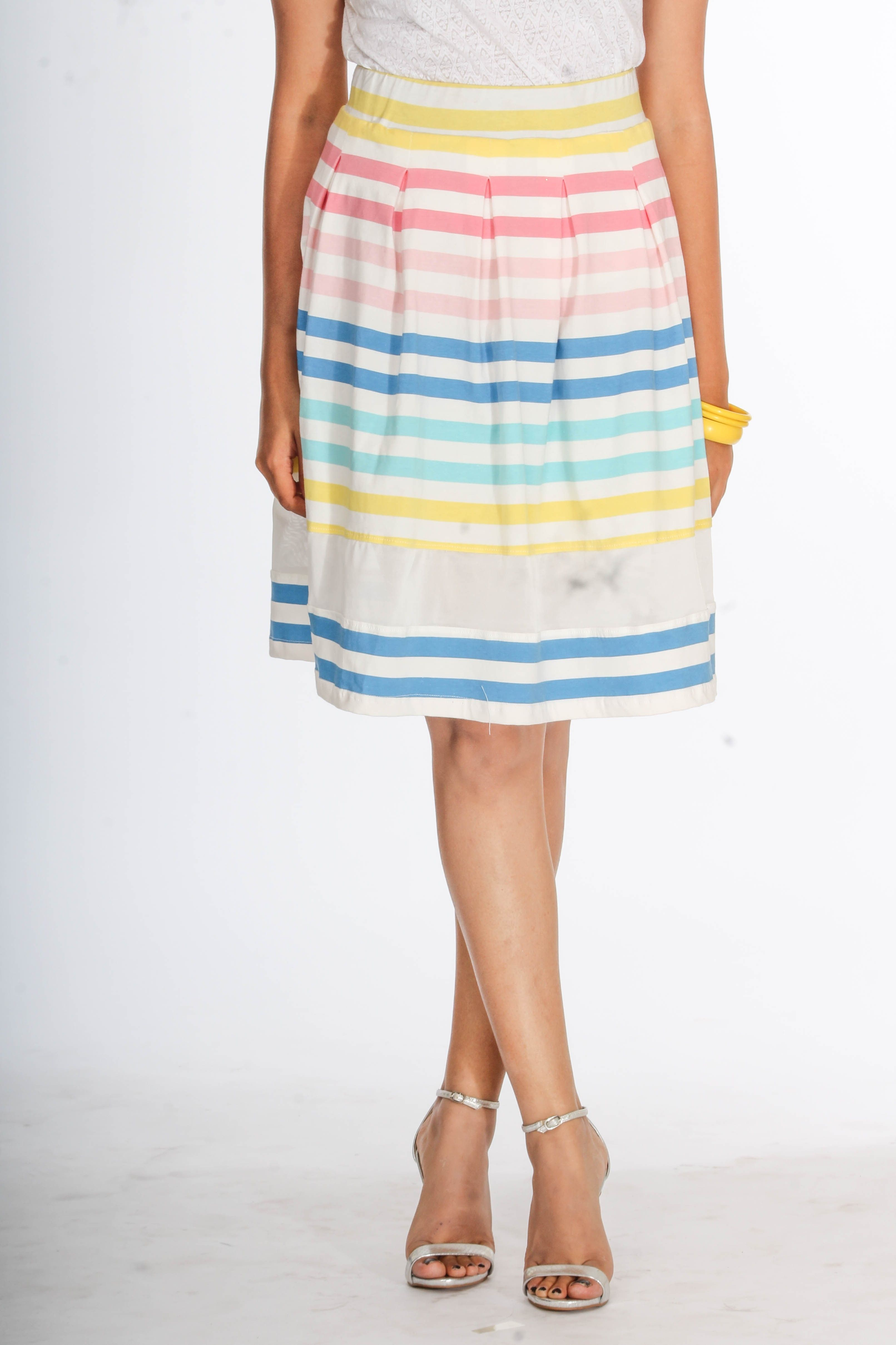 391f98ffd437 Young Trendz Striped Women s Pleated Skirt - Buy Multicolor Young Trendz  Striped Women s Pleated Skirt Online at Best Prices in India