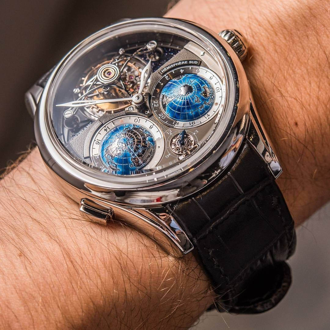 ...yes it's that amazing! Montblanc Villeret Collection Tourbillon Cylindrique Geosphères Vasco da Gama  stupendously long name for a stupendously stunning watch. by abtw_david