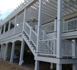 Ipe Decking With mission rails | By: RJ Fisher Construction Company | Woodbridge , VA