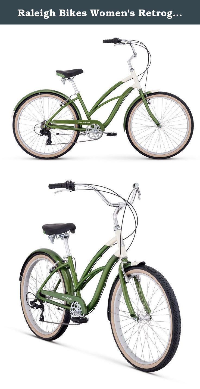 Raleigh Bikes Women S Retroglide 7 Step Thru Cruiser Bike 26 One Size Green Ride And Glide With Style And 7 Speeds Raleigh Bikes Cruiser Bike Womens Bike