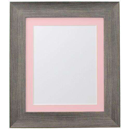 Photo of Steh-/Wandrahmen Aabriella 17 Stories Farbe: Grau/Rosa, Größe: 100,44 cm H x 69,96 cm B x 2,5 cm T, Bildergröße: 76,2 cm H x 50,8 cm B