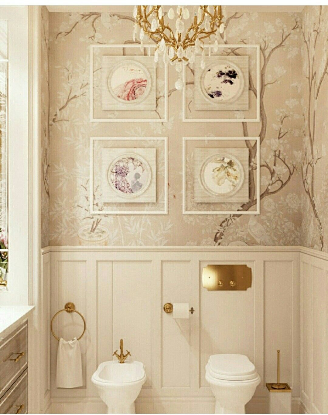 10 Kitchen And Home Decor Items Every 20 Something Needs: LOVE THIS GORGEOUS LOOKING POWDER ROOM, THERE IS JUST THE