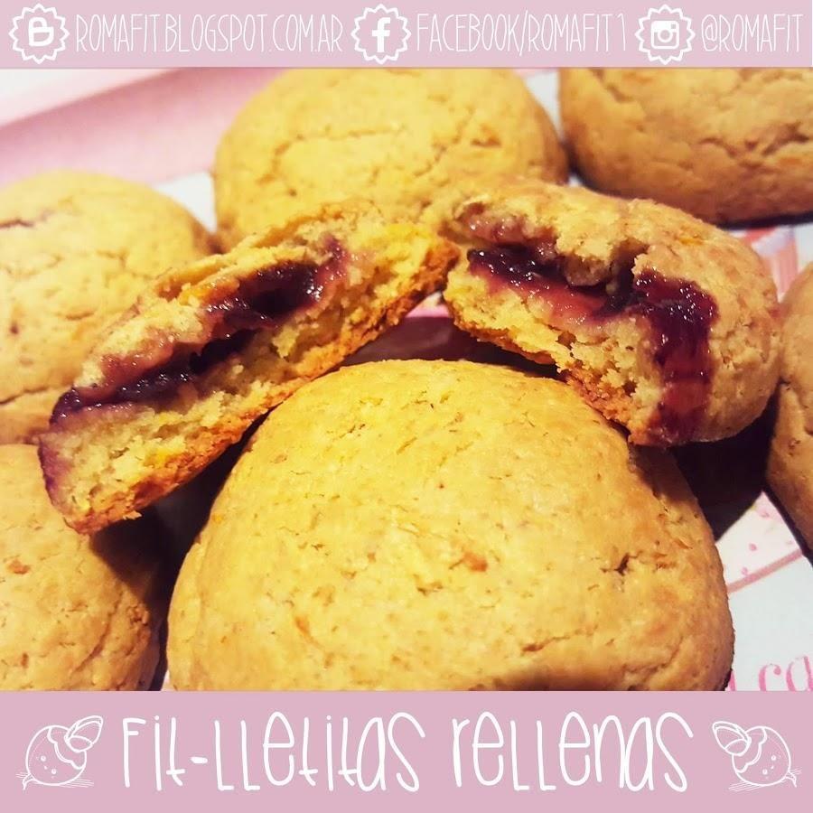 Fit-lletitas rellenas!: galletas saludables sin harinas refinadas, ni azúcar