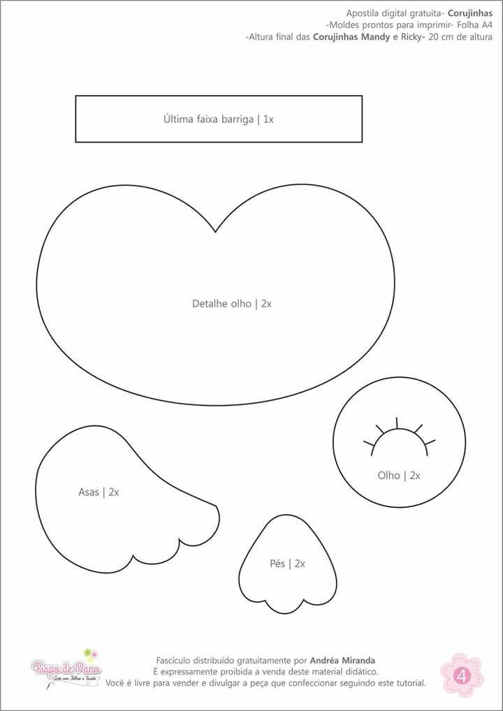 Pin de Karina Melo en feltro | Pinterest | Patrones de fieltro ...