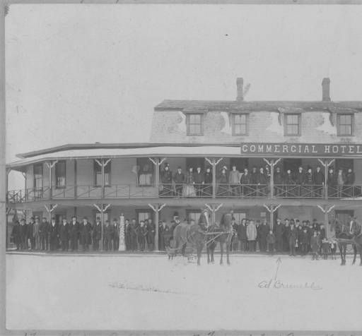 Commercial House Tupper Lake Ny 1890s Replaced By Iroquois Hotel On Park