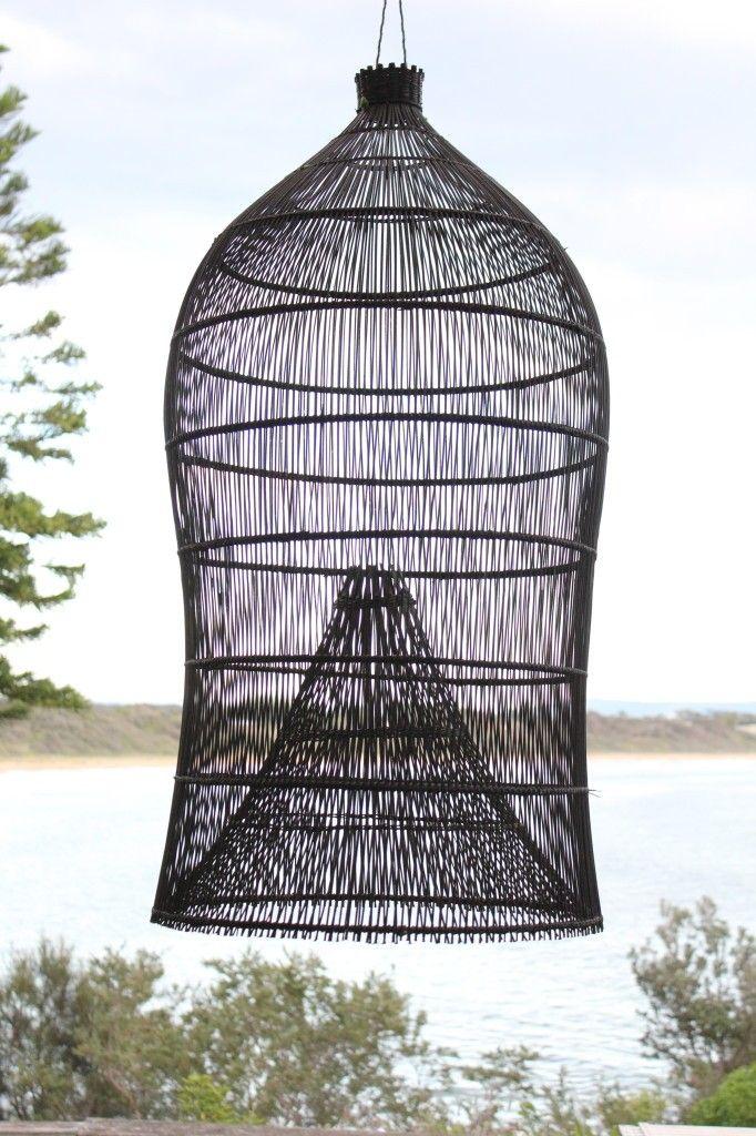 Net Gains 5 Fishing Baskets As Sculptural Lights Remodelista Light Shades Diy Light Shade Fishing Basket
