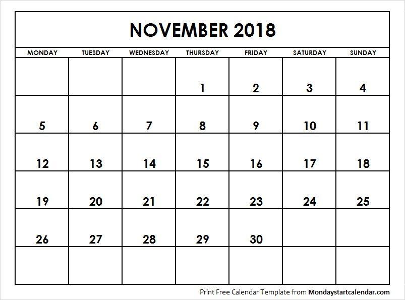 november 2018 calendar starting monday federal holiday calendar school holiday calendar 2018 calendar pdf