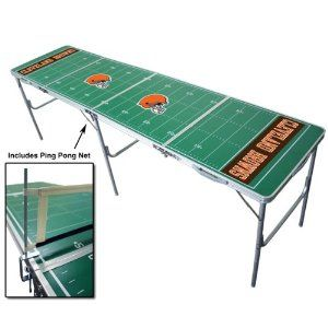 Cleveland Browns Portable Nfl Tailgate Beer Pong Table 8 Foot Misc Tailgate Table Beer Pong Tables Tailgate Toss