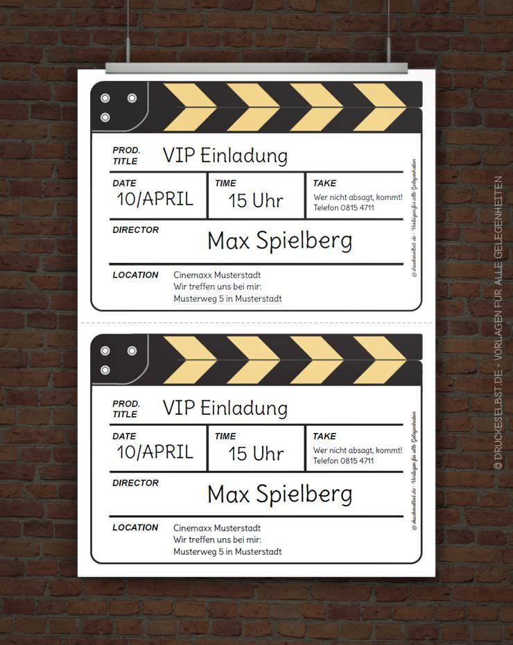Kostenlose Einladung Filmklappe Einladung Kindergeburtstag Einladung Vorlage Kostenlos Einladungen Geburtstag Kostenlos