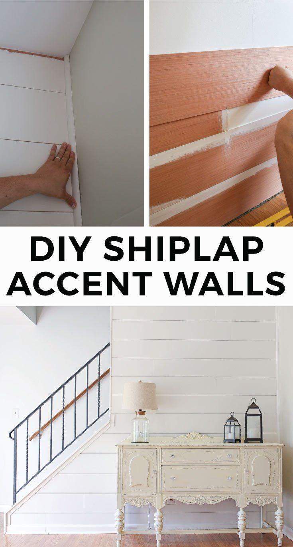 Diy Shiplap Accent Walls Faux Ship Lap