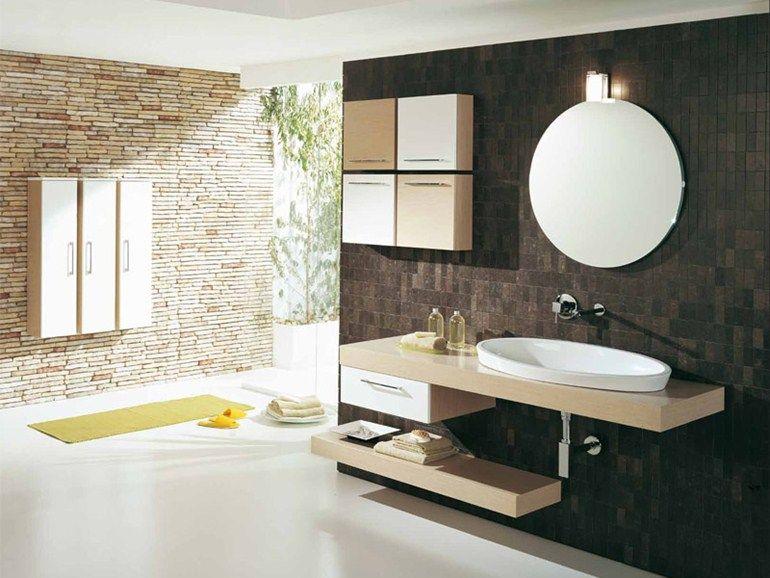 Cassetti Bagno ~ Genius g by legnobagno mobile lavabo singolo sospeso con