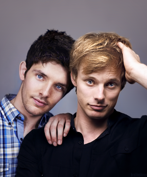 Colin Morgan And Bradley James Arthur And Merlin Bbc Series