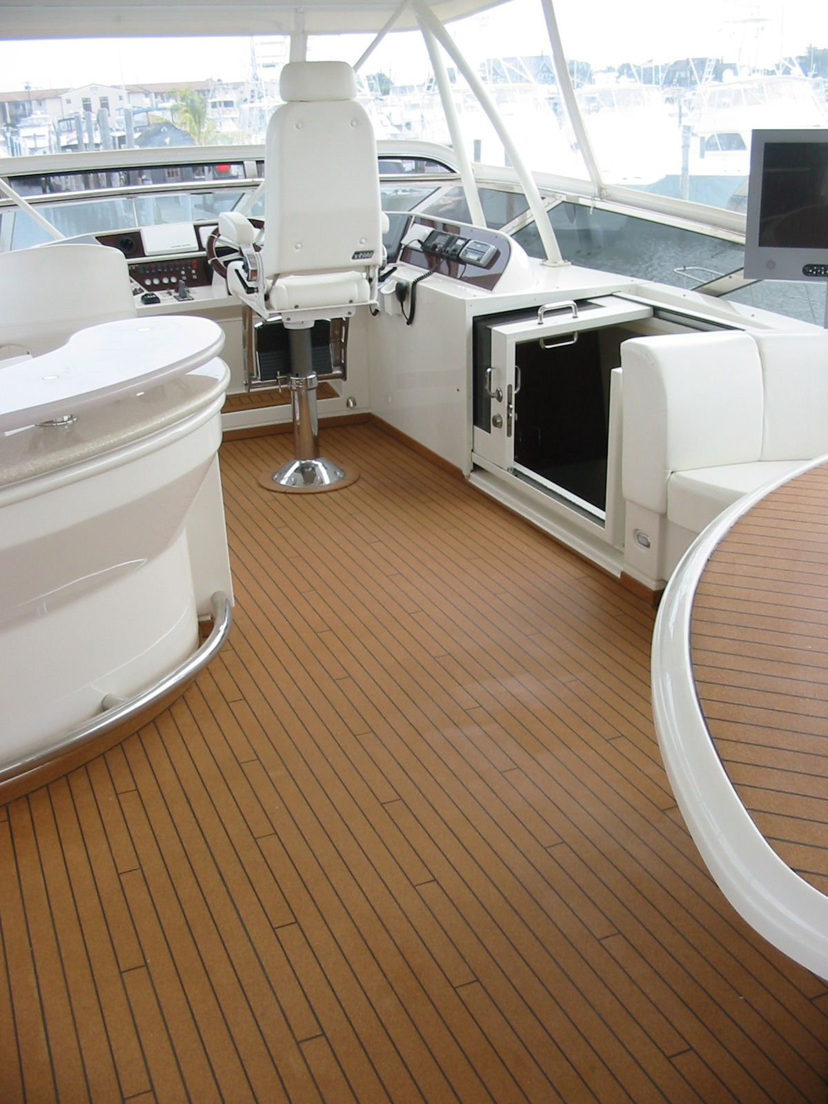boating boat floor spradling for corinthian by new events trends flooring in show miami formula