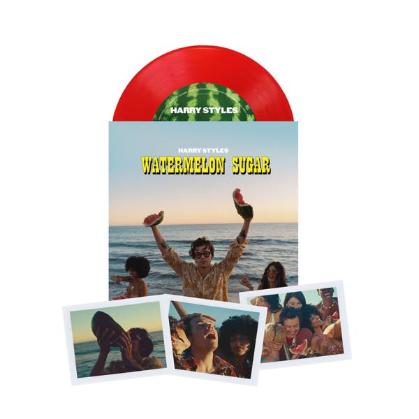 Limited Edition Watermelon Sugar Translucent Red 7 Vinyl In 2020 Vinyl Harry Styles Watermelon