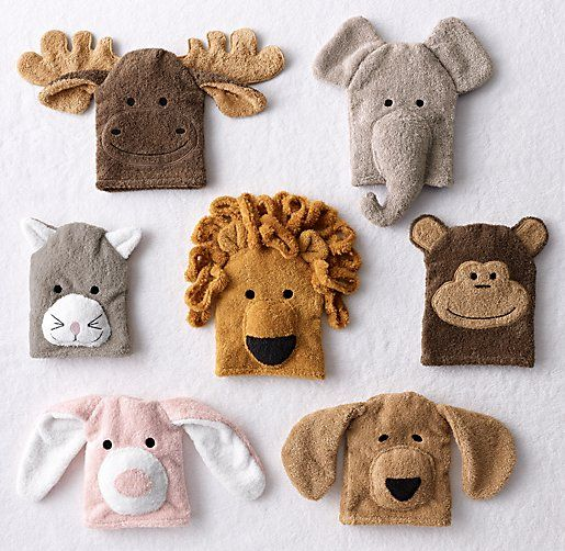 Animal Bath Mitt 8 Quot X 6 189 Quot Excluding Ears 100 Cotton