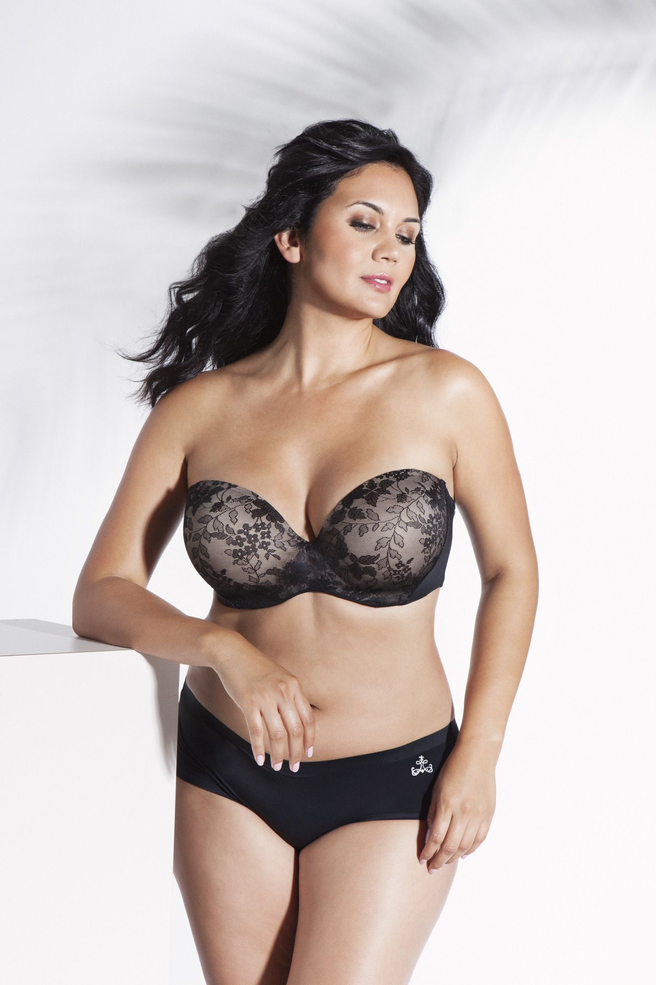 8d5a8472aa67e Curvy Couture Strapless Multi-Way Push-Up bra. Shop Now  http