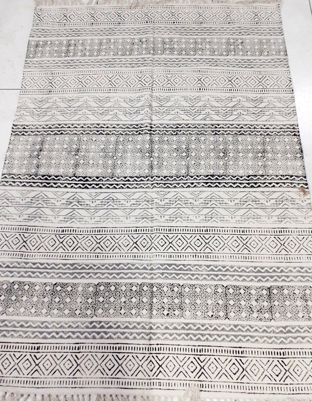 64 Sq Ft Hand Block Cotton Handmade Area Large Rug Carpet Etsy Printed Cotton Rug Rugs On Carpet Handmade Area Rugs