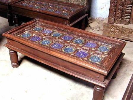 Beau Antique Design Center Tables