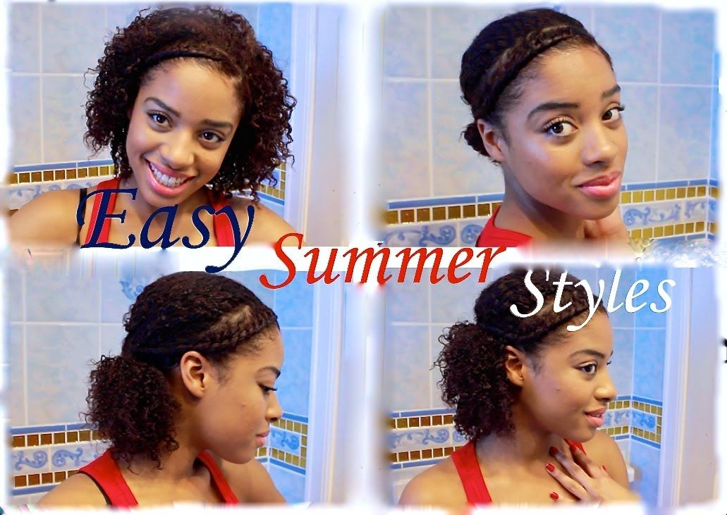 Easy Quick Summer Natural Hairstyles Youtube Natural Hair Styles Natural Hair Styles Easy Easy Care Hairstyles