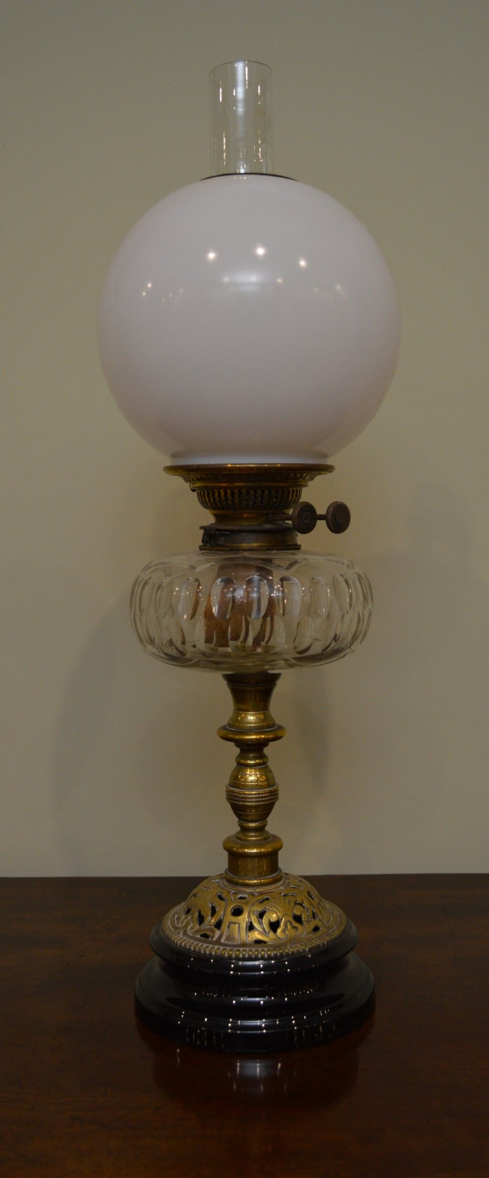 milk glass victorian oil lamp w milk glass globe lanterns oil lamps oil lamps. Black Bedroom Furniture Sets. Home Design Ideas