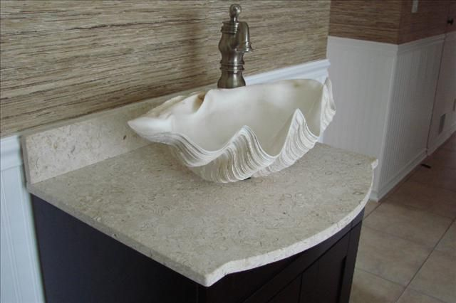 Clam Shell Vessel Sink  Vacation Homes  Pinterest  Clam Shells Captivating Sink Bowl Bathroom Review