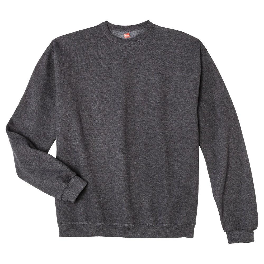 10eae60bed Hanes Premium Men s Fleece Crewneck Sweatshirt - Dark Gray XL