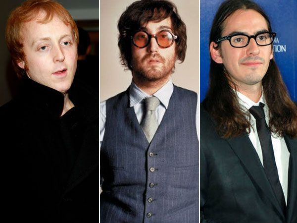 James McCartney, Sean Lennon, and Dhani Harrison