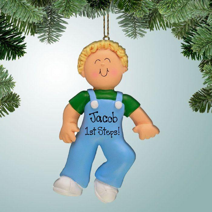 Baby Boy\u0027s First Steps - Blonde Hair