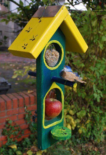 Garten U0026 Floristik   Vogel Futterhaus Aus Holz   Ein Designerstück Von  HolzArts Bei DaWanda