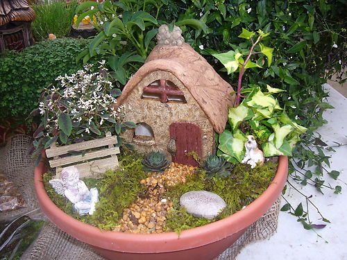 Dollhouse Miniature Gnome Fairy Garden Kit In Outdoor Ebay Fairy Garden Kit Fairy Garden Faeries Gardens