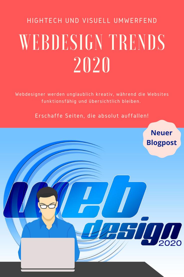Du fragst dich, wie die Webdesign Trends 2020 aussehen?  Webdesign Trends 2020 sind eine absolute Mischung aus der visuellen Seite des Grafikdesigns und der High-Tech-Seite der sich entwickelnden Technologie. Webdesigner werden unglaublich kreativ, während die Websites funktionsfähig und übersichtlich bleiben. Klicke hier, um dir direkt die Webdesign Trends 2020 anzusehen. #webdesigntrends #webdesign #trends2020 #3d #impulsdesign #blogdesign #websiteerstellen #design2020 #kreativ #erfolgreich
