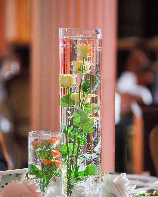 Flowers underwater centerpiece