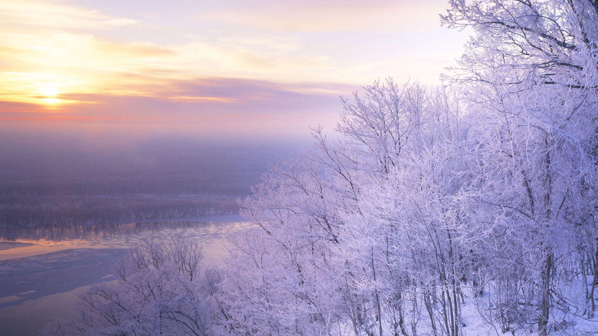 Beautiful Snow Scenery Wallpaper