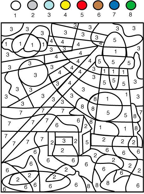 Pin de ân en cat color by number coloring page | Pinterest | Números ...