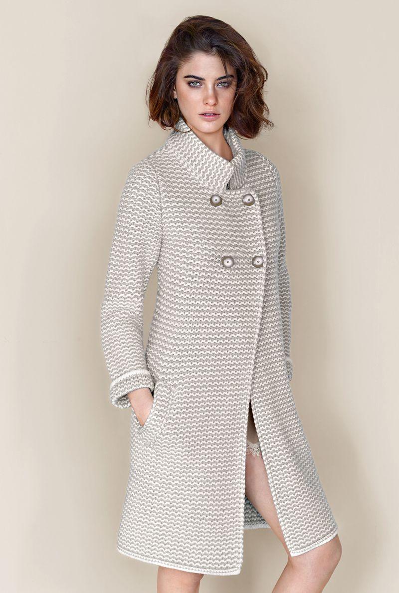 più recente 420ea ef4aa Cappotto bicolor in lana e cashmere - falconieri fw2013 ...
