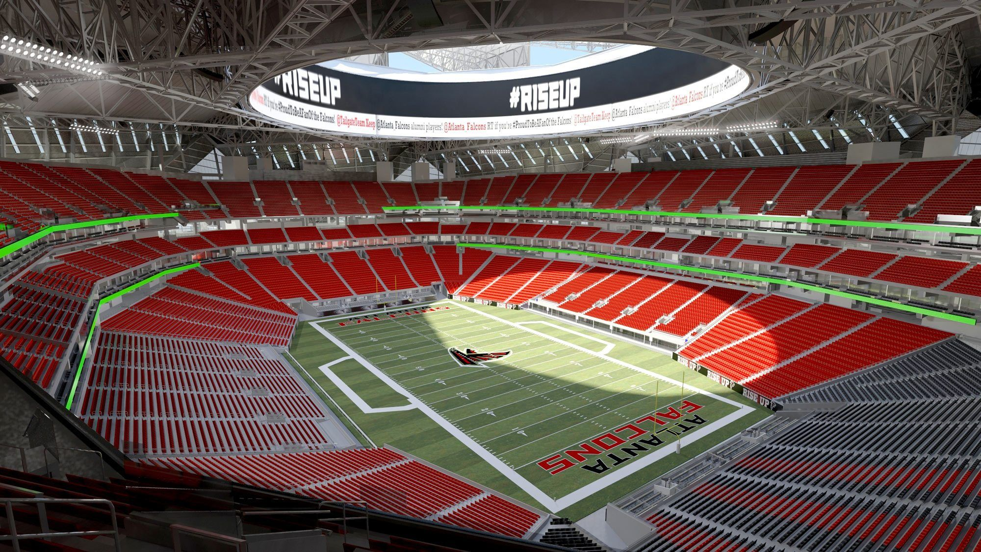 Check Out The Latest Digital Designs For Our New Falcons Stadium