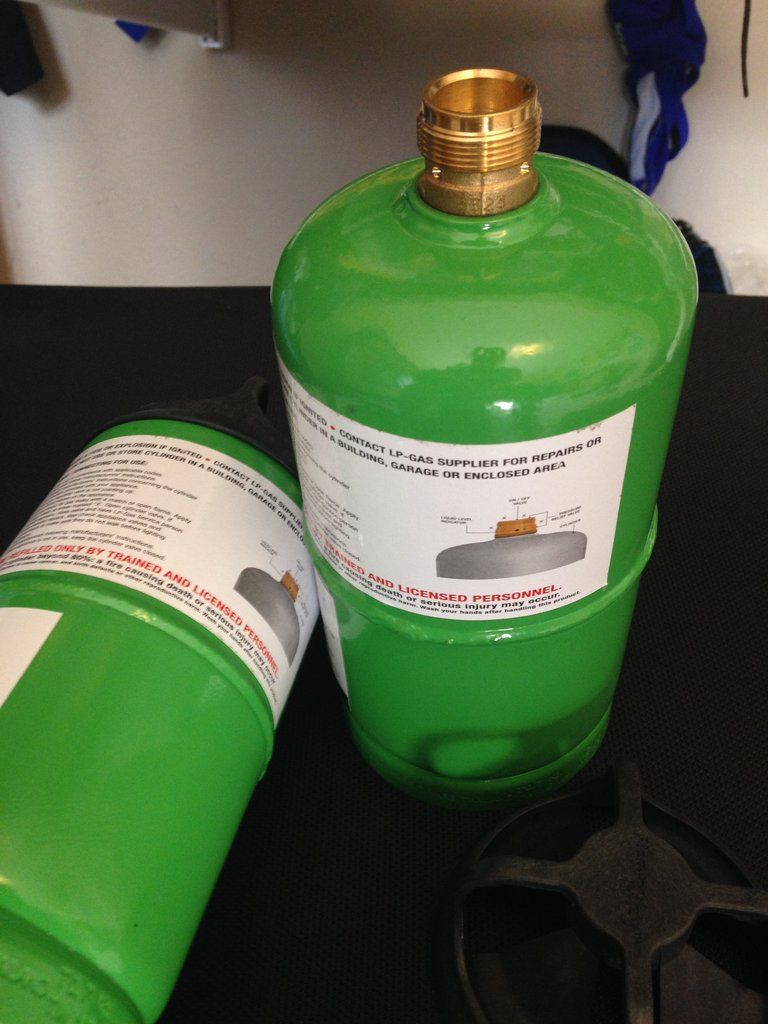 1 Lb Flameking Refillable Small Propane Cylinder 16 4oz Bottle