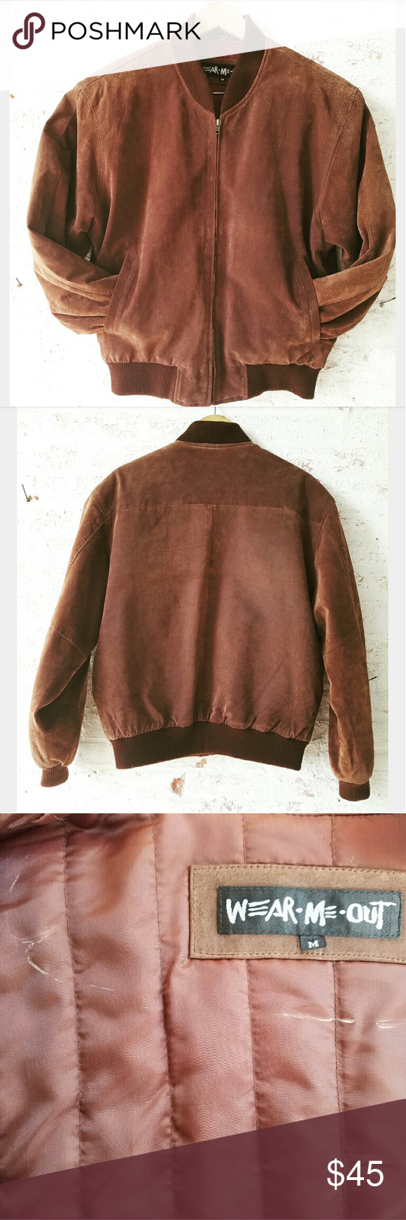 Vintage Brown Suede Bomber Jacket This is fantastic and perfect for Fall!! Men's size Medium- fits like women's Large Vintage Jackets & Coats Utility Jackets
