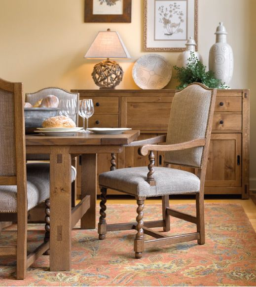 Stickley Coronado Dining Room Strand Way Chairs, Dining Table And Buffet