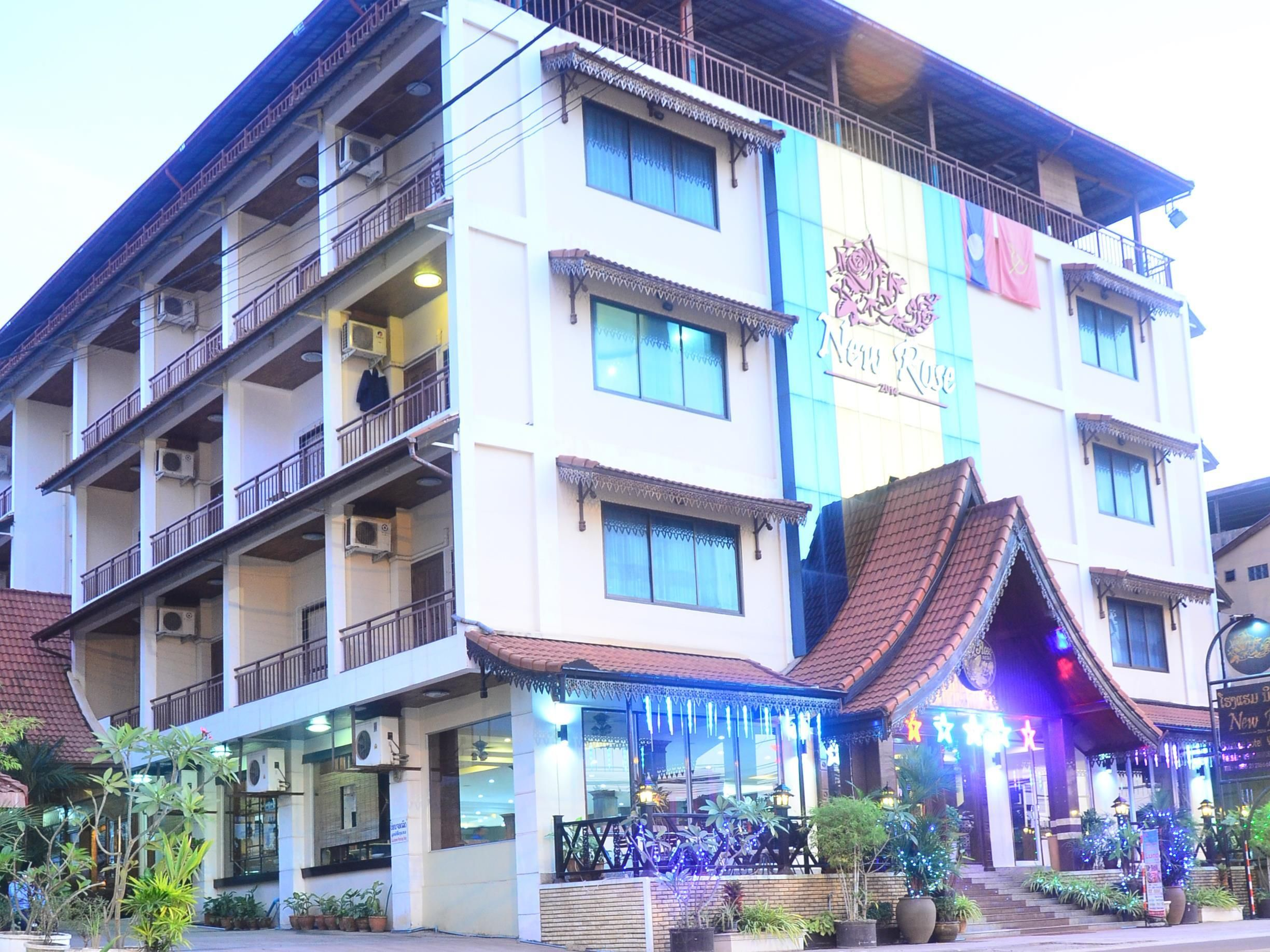 Vientiane New Rose Boutique Hotel Laos Asia Ideally Located In The Prime Touristic Area Of