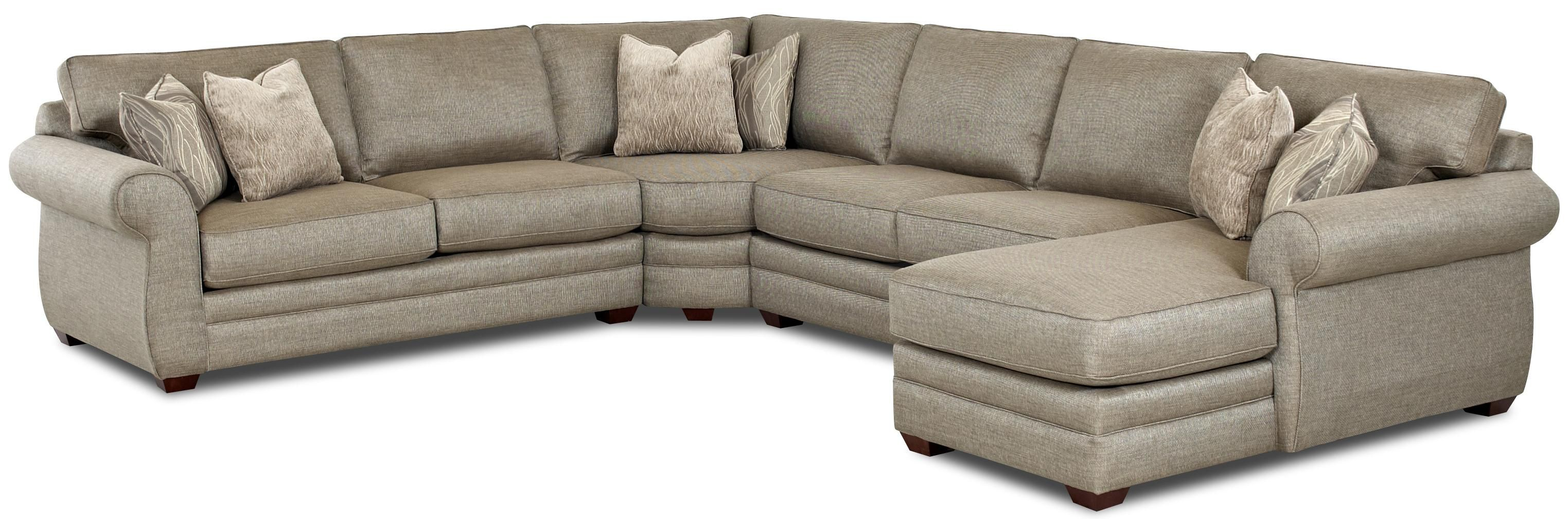 Clanton Transitional Sectional Sofa with Right Chaise by Klaussner