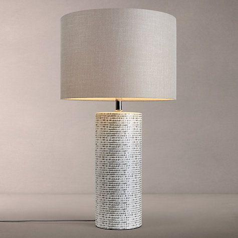 Buy John Lewis Minna Large Ceramic Cylinder Table Lamp Grey Online
