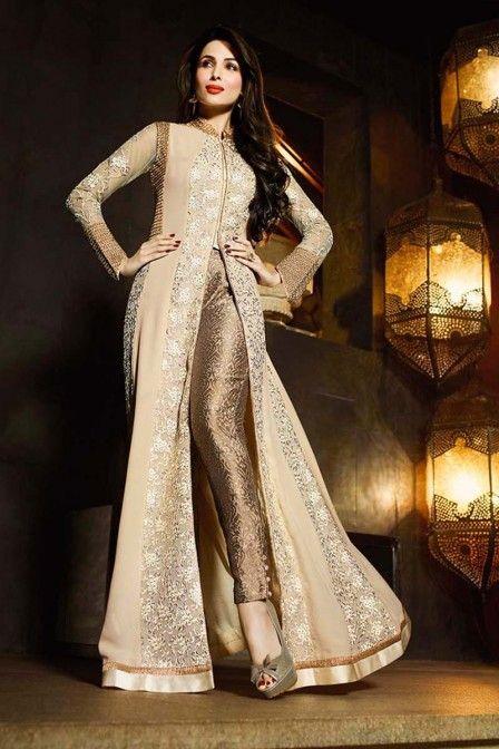 bf0152b54c Beige Designer Pant Style Suit Starring Malaika Arora Khan   r in ...