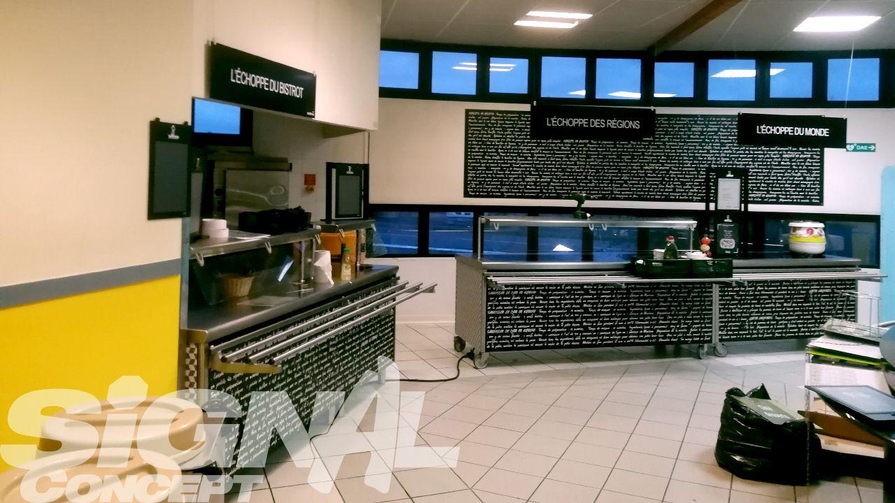 Adhesif Sur Meuble Restaurant Sodexo Sanofi Avec Images Panneaux De Signalisation Routiere Meuble Panneau Signalisation