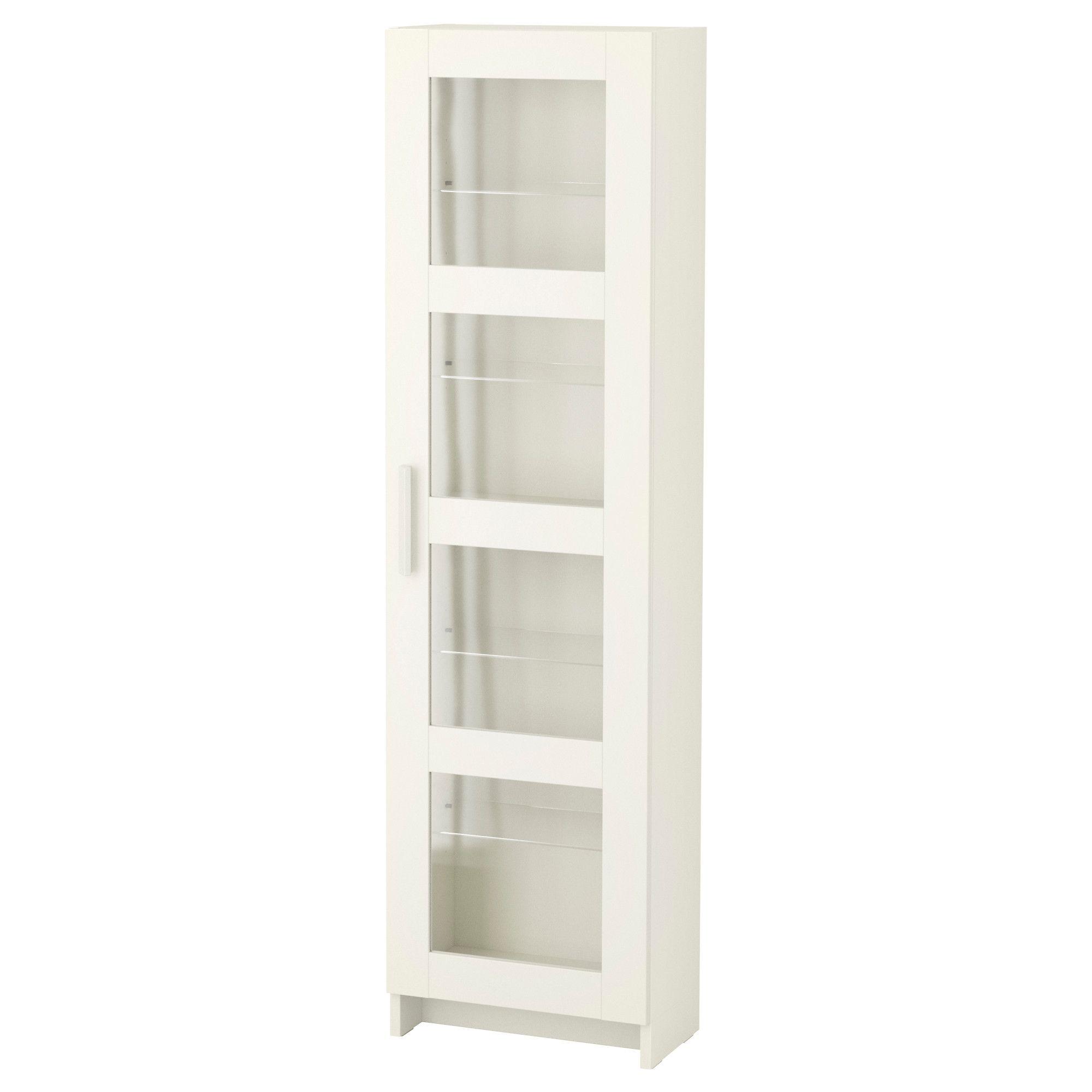 ikea - brimnes, glass door cabinet, white, , with a glass-door